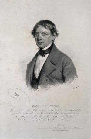 view Joseph Beskiba. Lithograph by J. Kriehuber, 1846.