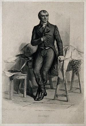 view Marie François Xavier Bichat. Line engraving by Wacqua after E. Béranger.