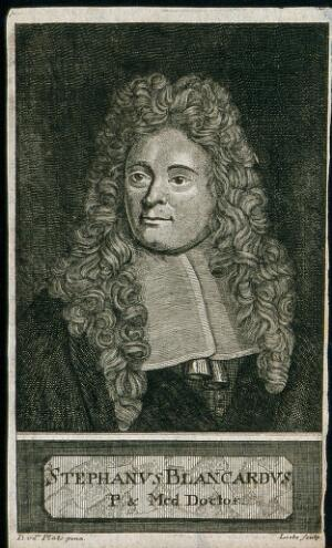 view Steven Blankaart. Engraving by Liebe after D. van der Plaats.