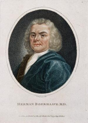 view Hermann Boerhaave. Stipple engraving by J. Chapman, 1798.