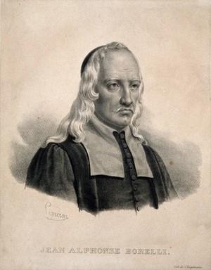 view Giovanni Alphonso Borelli. Lithograph by P. R. Vignéron.