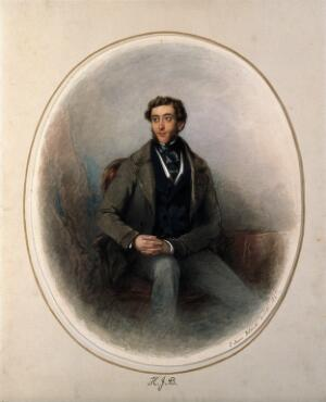 view Henry Joseph Bradfield. Watercolour painting by E. D. Smith, 1845.