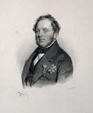 view Joseph Brenner, Edler von Felsach. Lithograph by J. Kriehuber, 1844.
