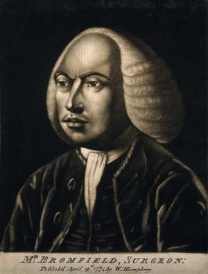 view Charles Bromfeild. Mezzotint, 1774.