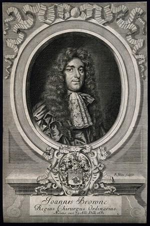 view John Browne. Line engraving by R. White, 1681.