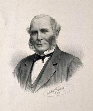 view Frederick Chapman. Lithograph by G. B. Black, 1876.