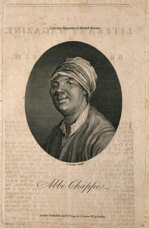 view Jean Chappé d'Auteroche. Line engraving by J. Corner, 1791.