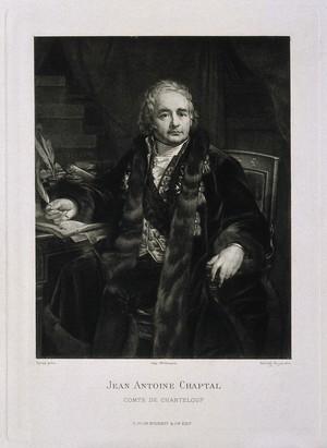 view Jean-Antoine-Claude Chaptal, Comte de Chanteloup. Heliogravure by Dujardin after a painting by A. J. Gros.