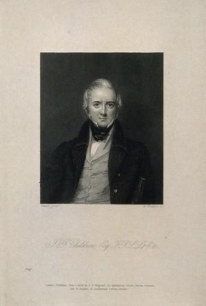 view John George Children. Stipple engraving by W. Raddon, 1839, after E. U. Eddis.
