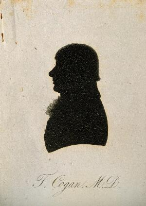 view Thomas Cogan. Aquatint silhouette.