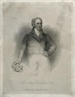 view Sir Astley Paston Cooper. Stipple engraving.