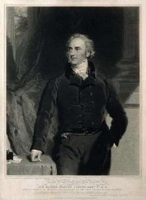 view Sir Astley Paston Cooper. Mezzotint by S. Cousins, 1830, after Sir T. Lawrence.