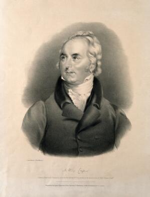 view Sir Astley Paston Cooper. Lithograph by R. J. Hamerton after G. F. Teniswood.