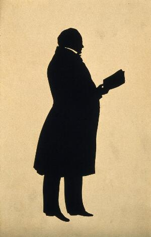 view Sir Astley Paston Cooper. Silhouette.