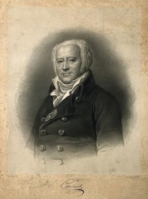 view Jean-Nicolas, Baron Corvisart. Lithograph by Bornemann after F. P. S. Gérard.