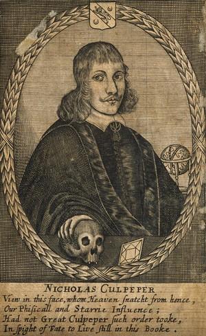 view Nicholas Culpeper. Line engraving, 1659.