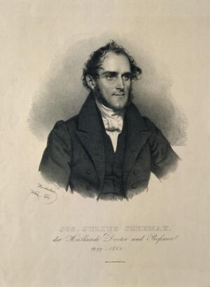 view Joseph Julius Czermak. Lithograph by J. Kriehuber, 1832.