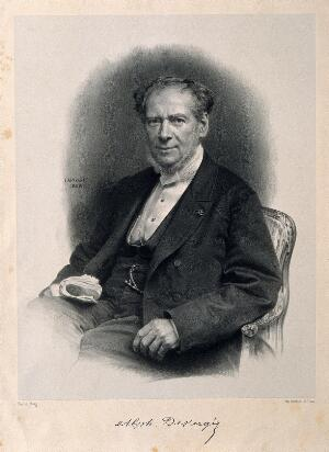 view Alphonse-Marie-Guillaume Devergie. Lithograph by J. B. A. Lafosse, 1868, after Pierson.