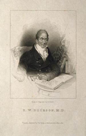 view Richard Watson Dickson. Stipple engraving by R. Page, 1824, after himself.
