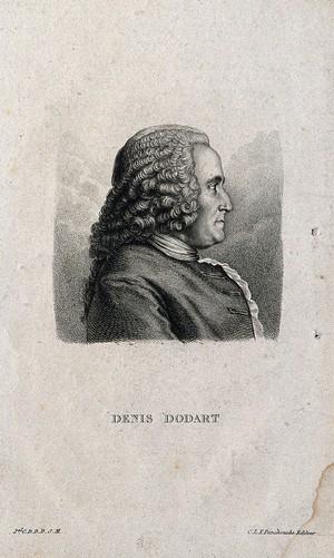 view Denis Dodart. Stipple engraving.