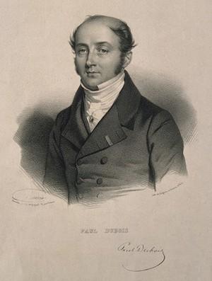 view Paul Dubois. Lithograph by N. E. Maurin.
