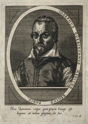 view Joseph Duchesne [Quercetanus]. Line engraving by C. Ammon, 1652.
