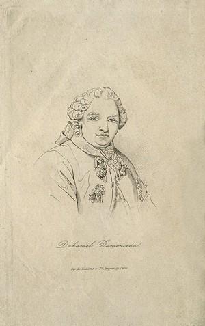 view Henri-Louis Duhamel du Monceau. Etching.
