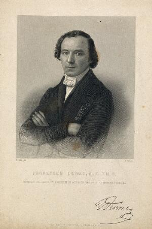 view Jean-Baptiste-André Dumas. Stipple engraving by S. Freeman after E. Desmaisons.