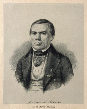 view Carl Eduard Eichwald. Lithograph by P. Kröger.