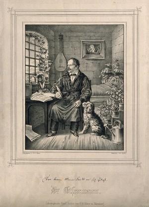view Gottfried Eisenmann. Lithograph by G. W. Faber.