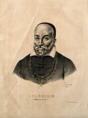 view Hieronymus Fabricius of Aquapendente. Lithograph by P. R. Vignéron.