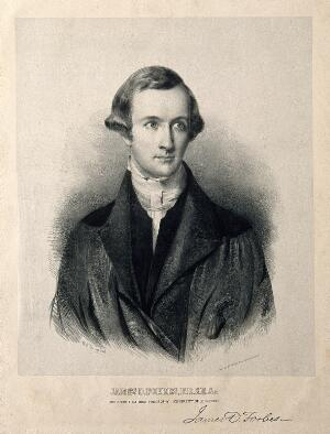 view James David Forbes. Lithograph by W. H. Townsend.