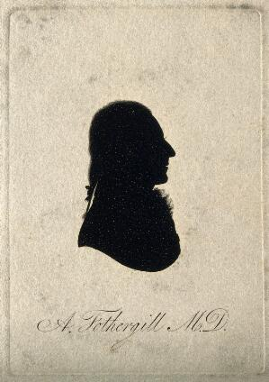 view Anthony Fothergill. Aquatint silhouette, 1801.