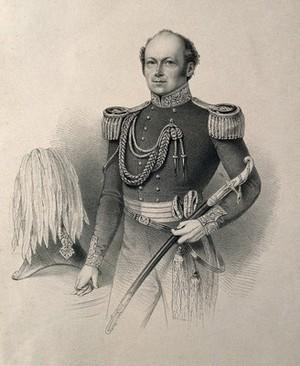 view Sir John Franklin. Lithograph.