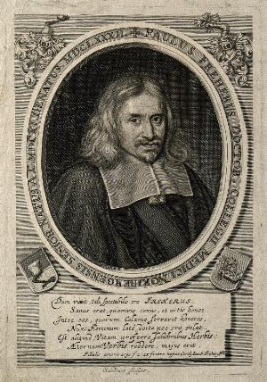 view Paul Freher. Line engraving by J. Sandrart, 1688.