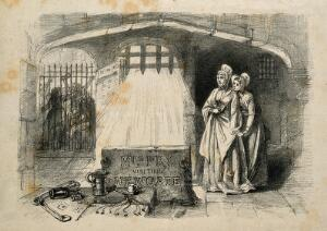 view Elizabeth Fry. Reproduction of lithograph.