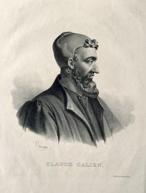 view Galen. Lithograph by P. R. Vignéron.
