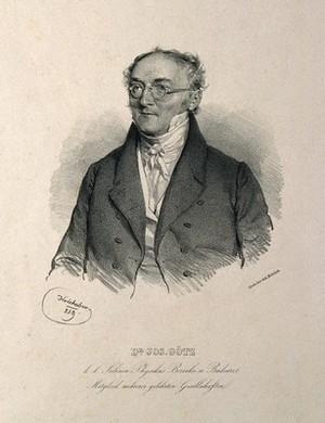 view Joseph Goetz. Lithograph by J. Kriehuber, 1839.
