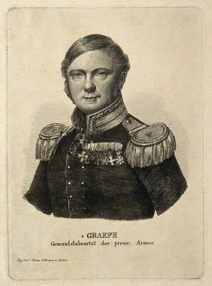 view Carl Ferdinand von Graefe. Stipple engraving.