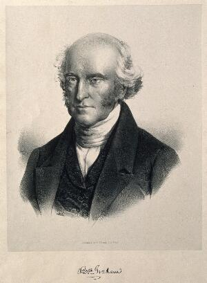 view Robert Graham. Lithograph attributed to F. Schenck.