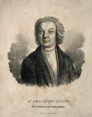 view Johann Sigmund Hahn. Lithograph.
