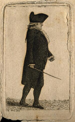 view James Hamilton. Etching by J. Kay, 1789.