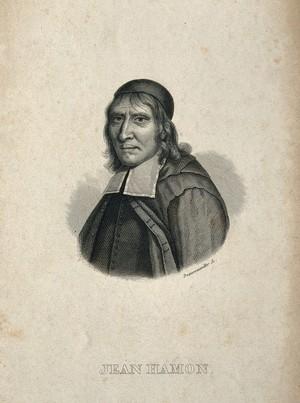 view Jean Hamon. Line engraving by F. J. Dequevauviller after P. de Champaigne.