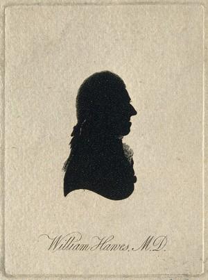 view William Hawes. Aquatint silhouette, 1801.