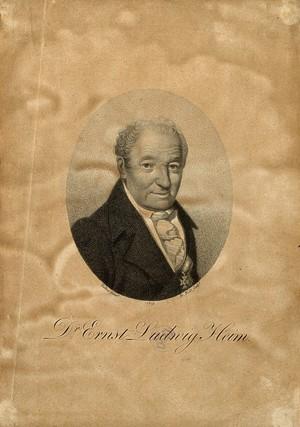 view Ernst Ludwig Heim. Stipple engraving by F. Bolt, 1819, after F. K. Tielker.