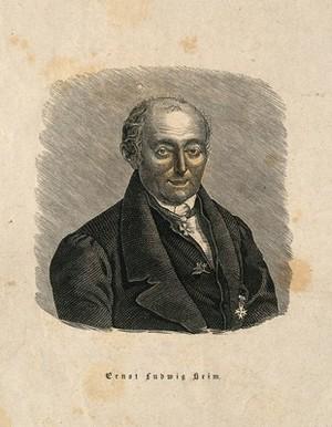 view Ernst Ludwig Heim. Wood engraving.