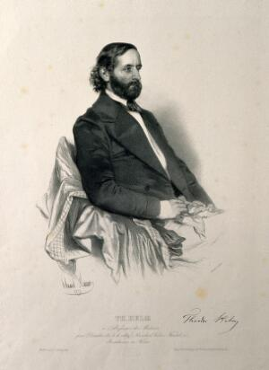 view Theodor Helm. Lithograph by E. Kaiser, 1850.