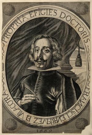 view Francisco da Villa Corta Henriquez. Line engraving by A. de Smide.