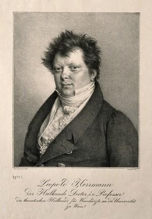 view Franz Leopold Hermann. Lithograph by F. J. G. Leider, 1826.