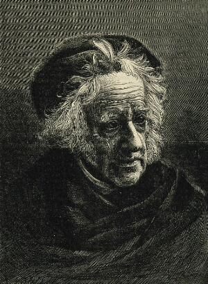 view Sir John Frederick William Herschel. Wood engraving by T. Johnson after Julia Margaret Cameron, 1867.